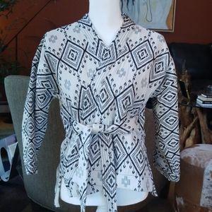 Madewell Arrowhead Kimono Jacquard Wrap Jacket NEW
